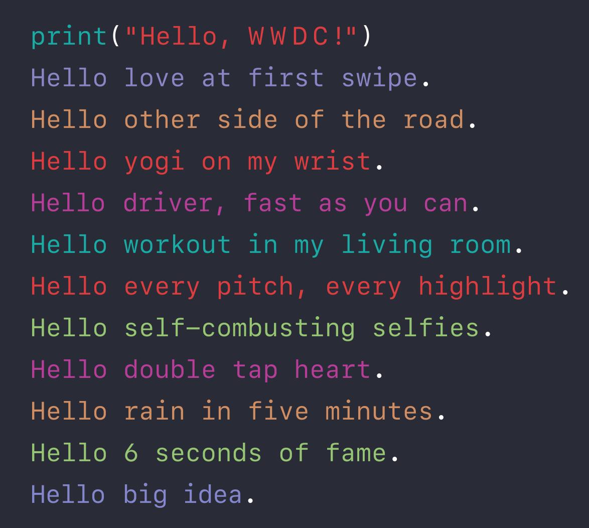 WWDC 2016 Poem