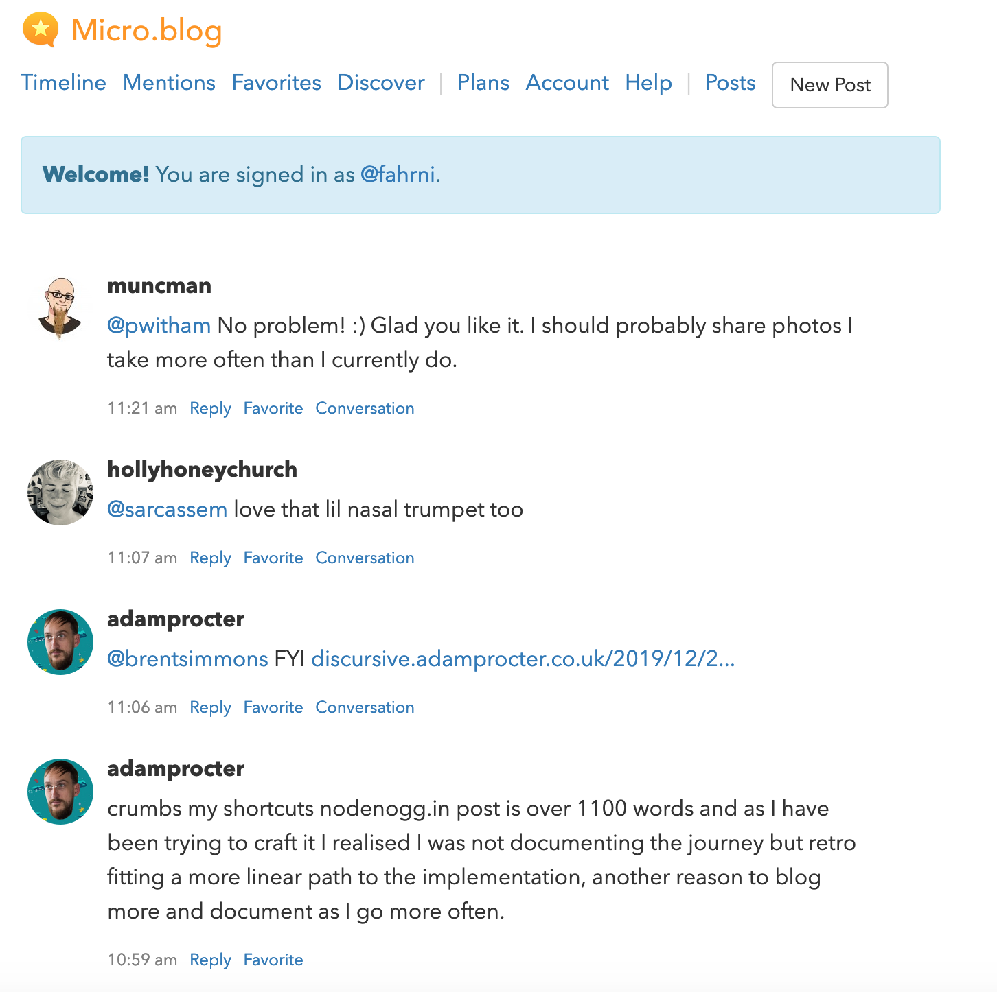 Micro.blog Timeline